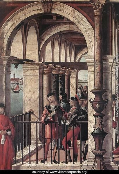 Arrival of the English Ambassadors (detail 1) 1495-1500