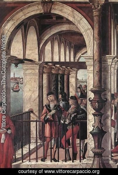 Vittore Carpaccio - Arrival of the English Ambassadors (detail 1) 1495-1500