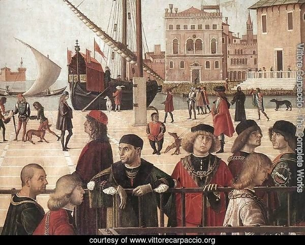 Arrival of the English Ambassadors (detail 2) 1495-1500