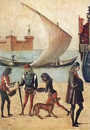 Vittore Carpaccio - Arrival of the English Ambassadors (detail 4) 1495-1500