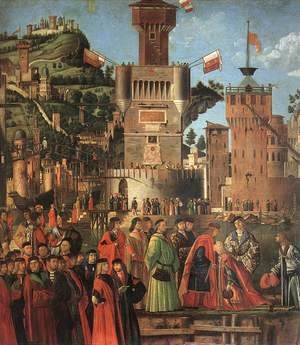 Vittore Carpaccio - Departure of the Pilgrims (detail 1) 1495