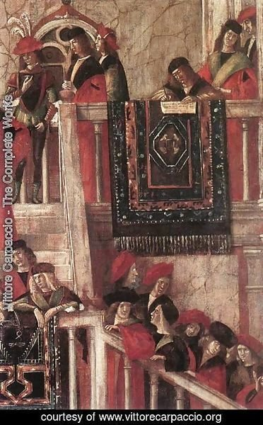 Vittore Carpaccio - Meeting of the Betrothed Couple (detail 2) 1495