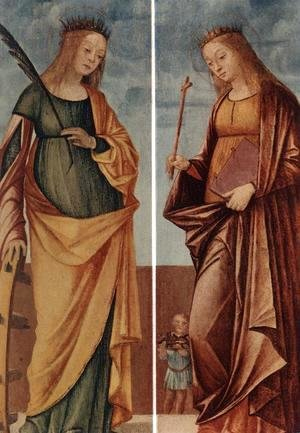 Vittore Carpaccio - St Catherine of Alexandria and St Veneranda c. 1500