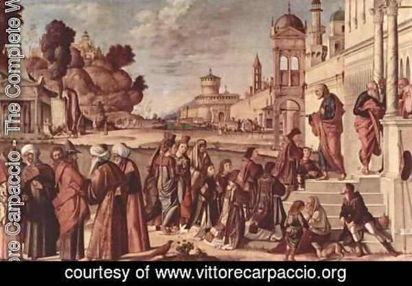 Vittore Carpaccio - St Stephen is Consecrated Deacon 1511