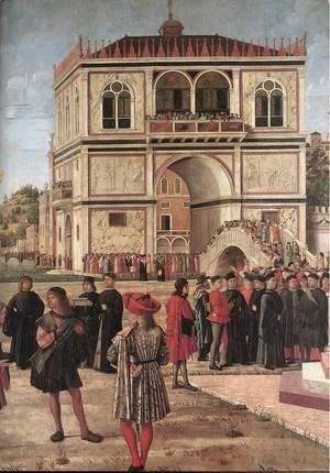 Vittore Carpaccio - The Ambassadors Return to the English Court (detail) 1495-1500