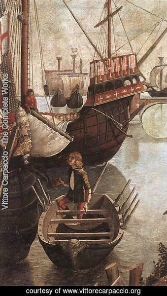 Vittore Carpaccio - The Arrival of the Pilgrims in Cologne (detail) 1490