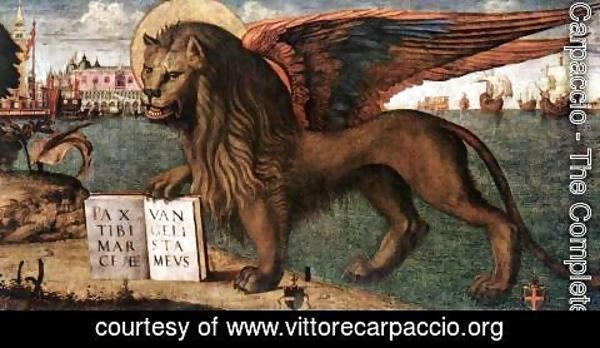 Vittore Carpaccio - The Lion of St Mark (detail 1) 1516
