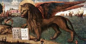 The Lion of St Mark (detail 1) 1516