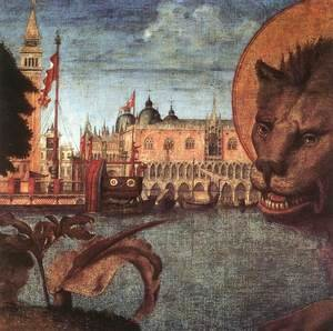 Vittore Carpaccio - The Lion of St Mark (detail 2) 1516