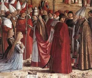 The Pilgrims Meet the Pope (detail) c. 1492