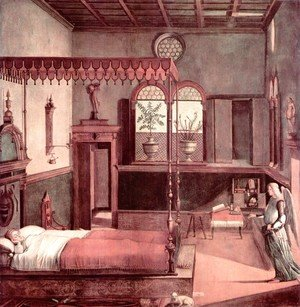 Vittore Carpaccio - Legend of St. Ursula: The Dream of St. Ursula (Storie di sant'Orsola: Sogno di sant'Orsola)